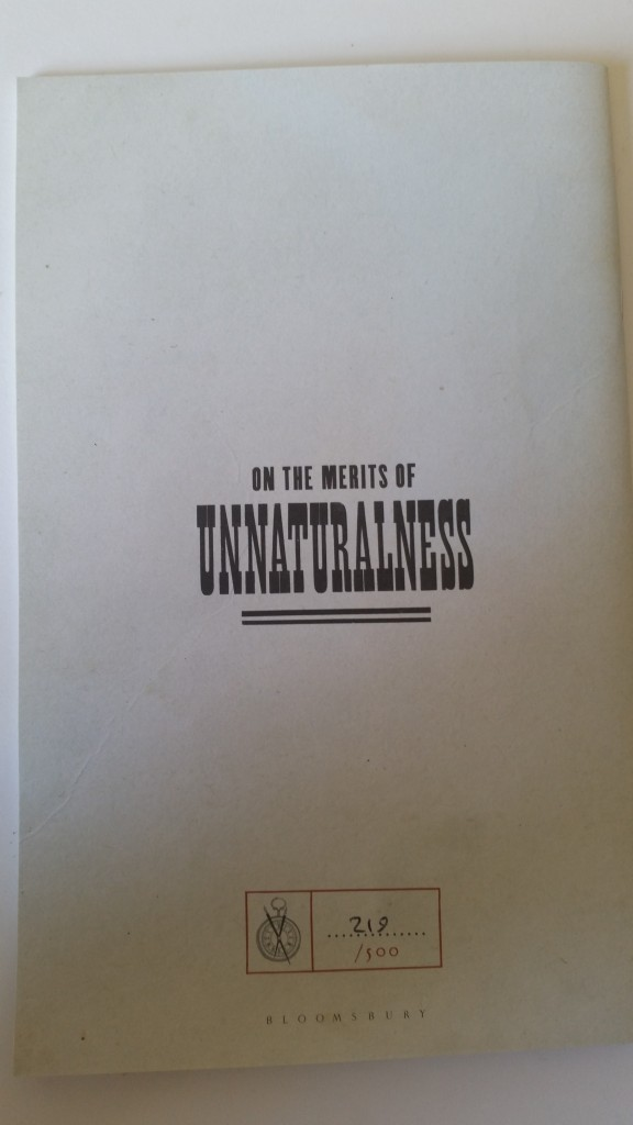 On the merits of unnaturalness by an Samantha Shannon